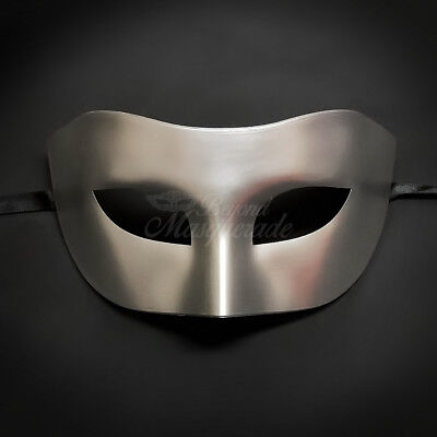Silver Simple & Elegant Masquerade For Men Mask Costume Prom Party Mask](Simple Masquerade Masks)