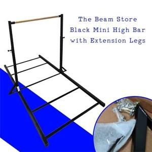 NEW The Beam Store Black Mini High Bar with Extension Legs Condtion: Like New. Some small scratches, Black