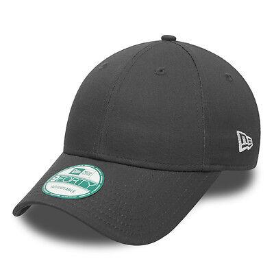 NEW ERA MENS 9FORTY BASEBALL CAP.GENUINE GREY BASIC CURVED PEAK ADJUSTABLE HAT 4