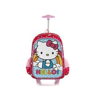 Heys 18 Inch Soft-Side School Bag Rolling Backpack for Kids [Hello Kitty]
