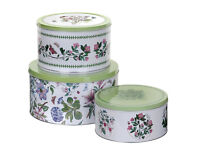 3 Cake Tins The Botanic Garden Pimpernel Excellent Condition