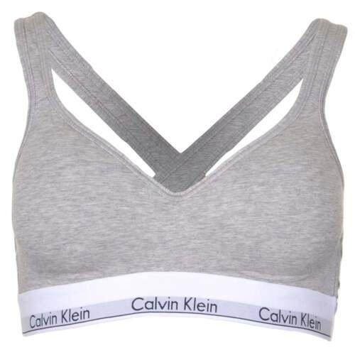 Details zu Calvin Klein Women Modern Cotton Bralette Lift, Grey