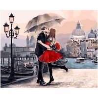 Kissing Lovers Digital Oil Painting Home Wall Decoration By Hand Coloring - ishoot - ebay.co.uk
