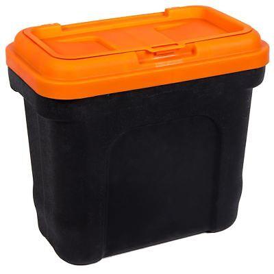 Pet Food Storage Container Black & Orange Scoop Dog Cat Dry Plastic Box