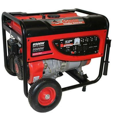 11hp Portable Generator 6500w Not Used Ran 20 Minutes For Break-in