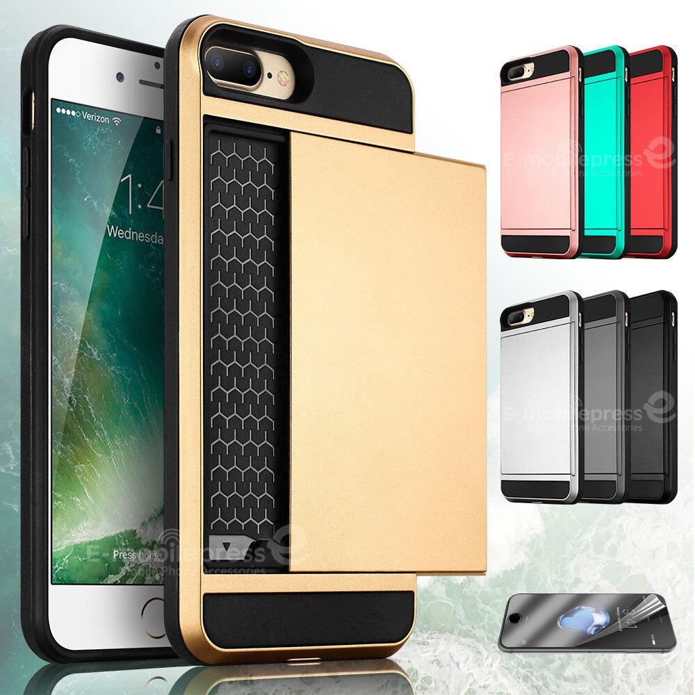Shockproof Wallet Credit Card Holder Case Cover for Apple iP