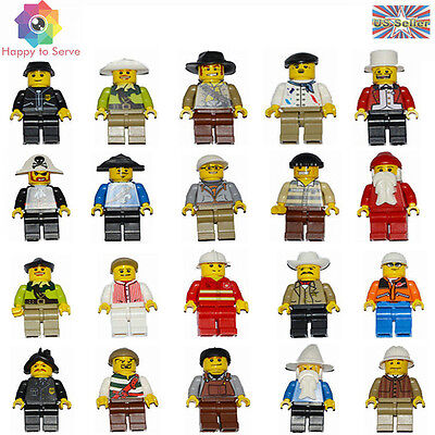 NEW 2 Pcs Random Men People Minifigures Building Toys Minifigs Grab Party Bag