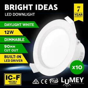 8 x brand new led 12w Dimmable downlights switchable