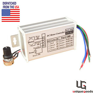 dc variable speed motor controller ebay rh ebay com LED Light Switch Wiring AC Switch Wiring