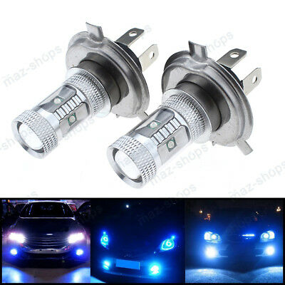2Pcs H4 30W Cree LED Nice Blue Headlights Bulbs Lamp For Yamaha Snowmobiles