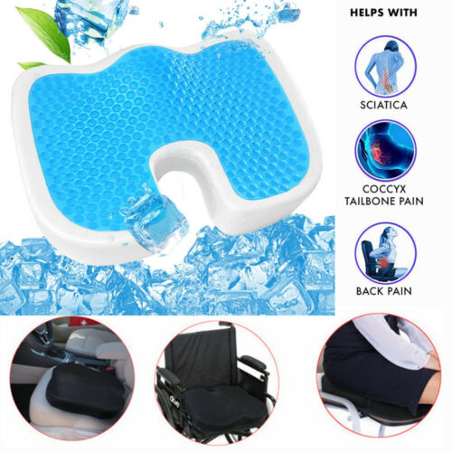 Coccyx Memory Foam Seat Cushion W/ Cooling Gel Support Contour Pillow Office US Health & Beauty