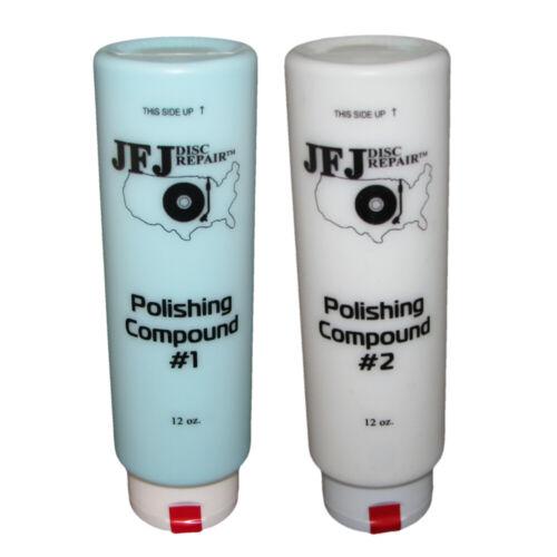 2 x JFJ EASY PRO Polishing Compound Solution #1 Blue & #2 White 12oz