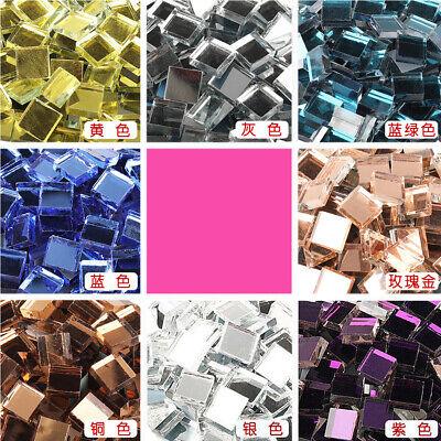 Craft Mirror Tiles (100Pcs Square Glass Mirror Mosaic Tiles Bulk Craft Supplies DIY Home)