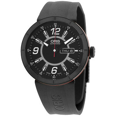 Oris TT1 Black Dial Silicone Strap Men's Watch 73576514764RS
