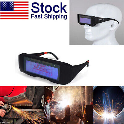 Solar Powered Auto Darkening Welding Glasses Goggle Welder Lcd Eye Protection Us