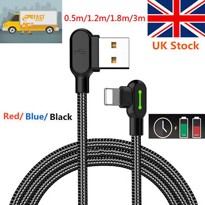 Mcdodo 90 Degree Lightning Cable USB Charger Fast Charging for iPhone 11 8 7 6 X