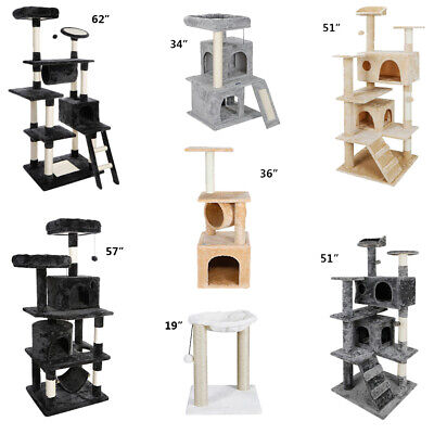 Multiple Sizes Cat Tree Tower Condo Furniture Scratch Post Tree Kitty Play -