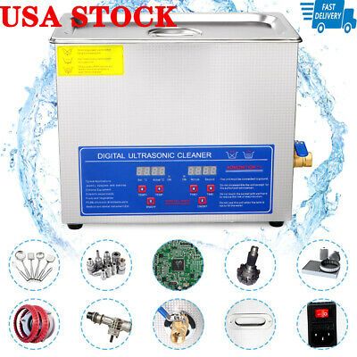 Pro Ultrasonic Cleaner 6 L Liter Stainless Steel Industry Heated Digital Control