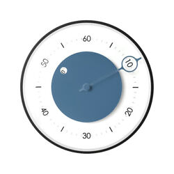 Modern Single Hand Wall clock with Glass Cover & Silent, Non-Ticking Movement