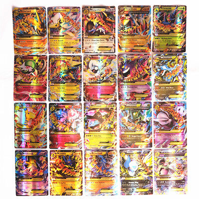 Pokemon 100 Pcs Flash Lot Rare High Combat Hp Energy 60Ex 20Gx 20Mega Cards Us