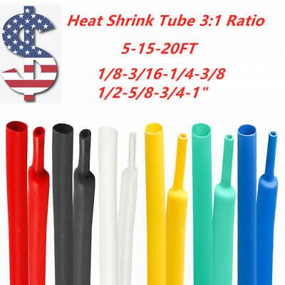 Blackredclear Dual-wall Adhesive Glue Lined Heat Shrink Tube 31 Ratio 5-20ft