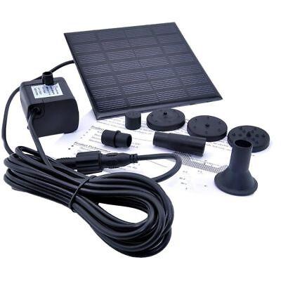 - Solar Water Panel Power Fountain Pump Kit Pool Garden Pond Watering Submersible