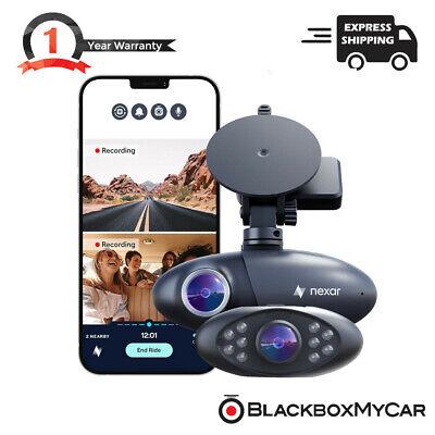 Nexar Pro GPS - Dual Dash Cam System (Front & Interior) 2021 Model - 32GB SD
