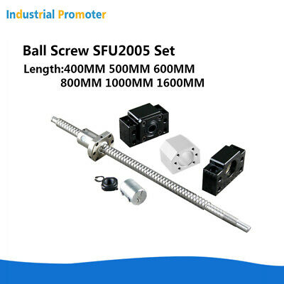 Cnc Rmsfu2005 Ball Screw Set L400-1600mm Ballnut Housing Coupler Bkbf15