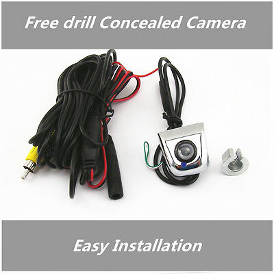 Free Drill concealed Car SUV Rear Reverse Backup Parking Camera 170° Wide Angle