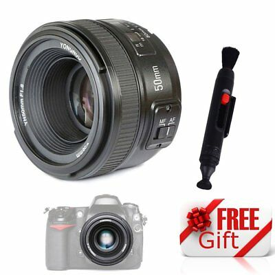 Yongnuo YN50mm F1.8 Auto Focus Lens Large Aperture MF AF For Nikon Camera UK