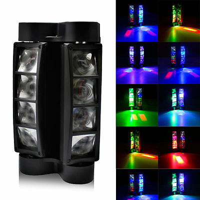 Spider Beam Moving Head Light RGBW 8 LED Stage Light Disco DJ Party Show Light