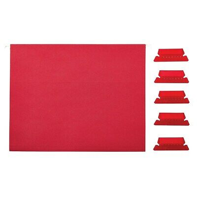 Staples Hanging File Folders 5-tab Letter Size Red 25box 163535