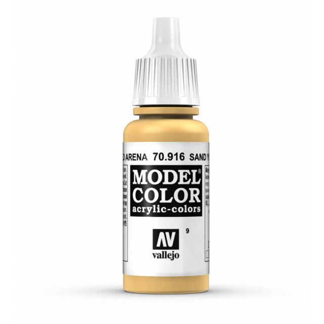 Vallejo Model Color: Sand Yellow - VAL70916 Acrylic Paint 17ml Bottle 009