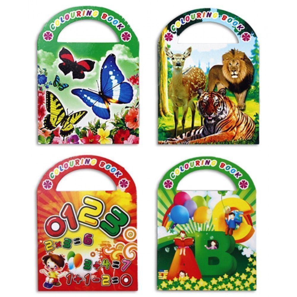 12 mini Malbuch Paket mit Sticker Malbücher Kindergeburtstag Mitgebsel Tombala