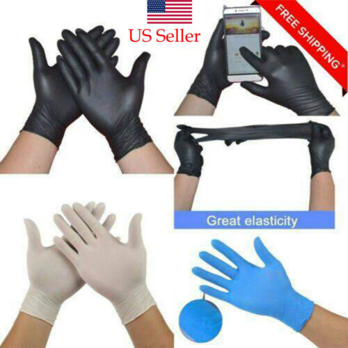 10-100Pair Comfortable Rubber Glove Oil Resistant Mechanic N