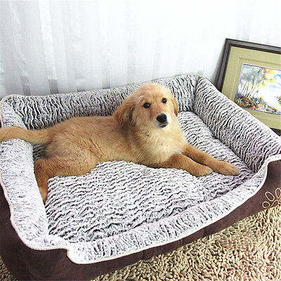 Large Pet Bed Dog Cat Cushion Pad Soft Warm Kennel Puppy Mat Blanket