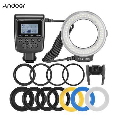 LED Makro Ring Blitz Aufsteckblitz Speedlite Licht für Canon Nikon Pentax O2N8 Nikon Ring