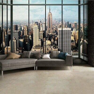 1 WALL NEW YORK WINDOW SCENERY VIEW NY WALLPAPER MURAL 3.15 x 2.32m