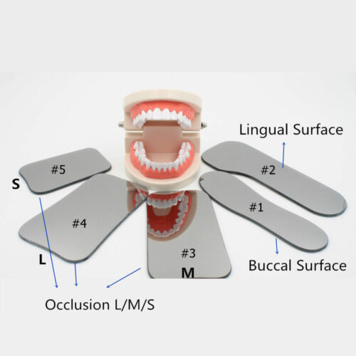 5*Dental Orthodontic Photo Mouth Mirrors Intraoral Photographic Glass Reflector