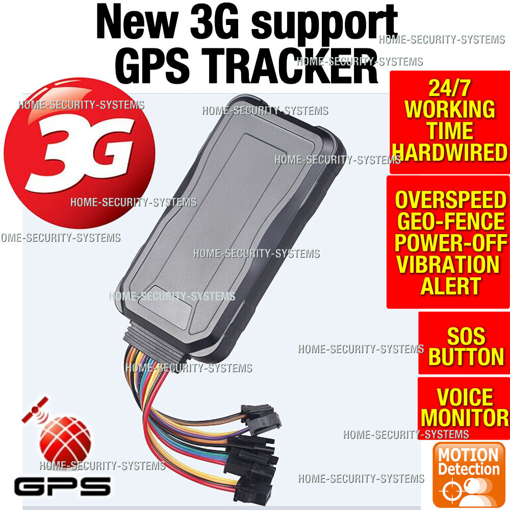 3G GPS Tracker Anti Car Theft Boat Hardwired Kit Remote Monitor Mobile Phone