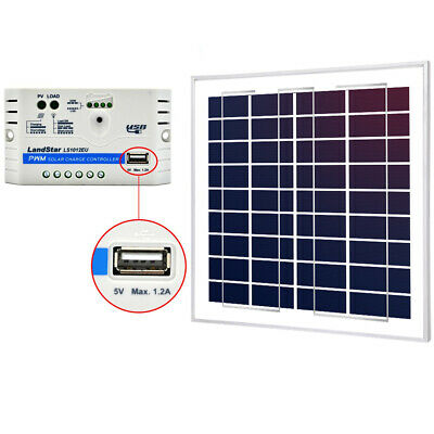 15W Poly Solar Panel +10A  PWM Ask Controller For 12 V Battery Charger