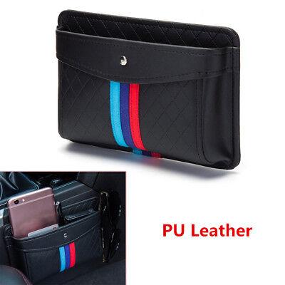PU Leather Car Organizer Pouch Pocket Storage Phone Bag Accessories Self-Adhesiv ()