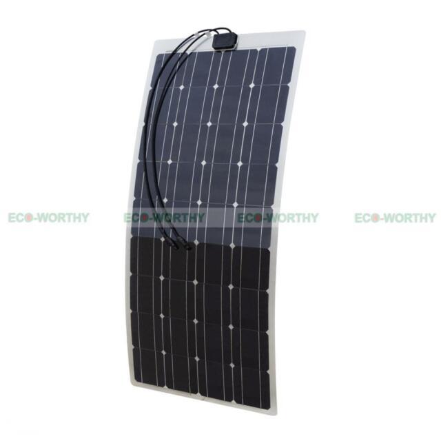ECO 150W Mono SemiFlexible Solar Panel for Motorhome Boat Car Light Solar System