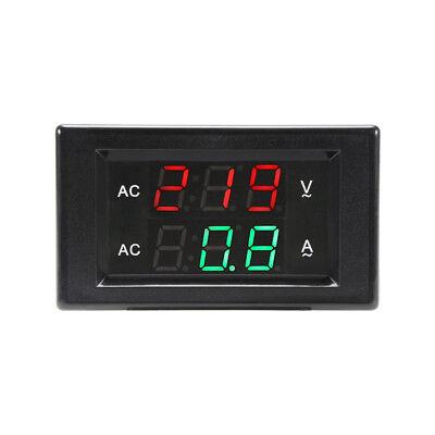 Ac60-300v 100a Digital Voltmeter Ammeter Led Amp Volt Meter Dual Measuring Bi897