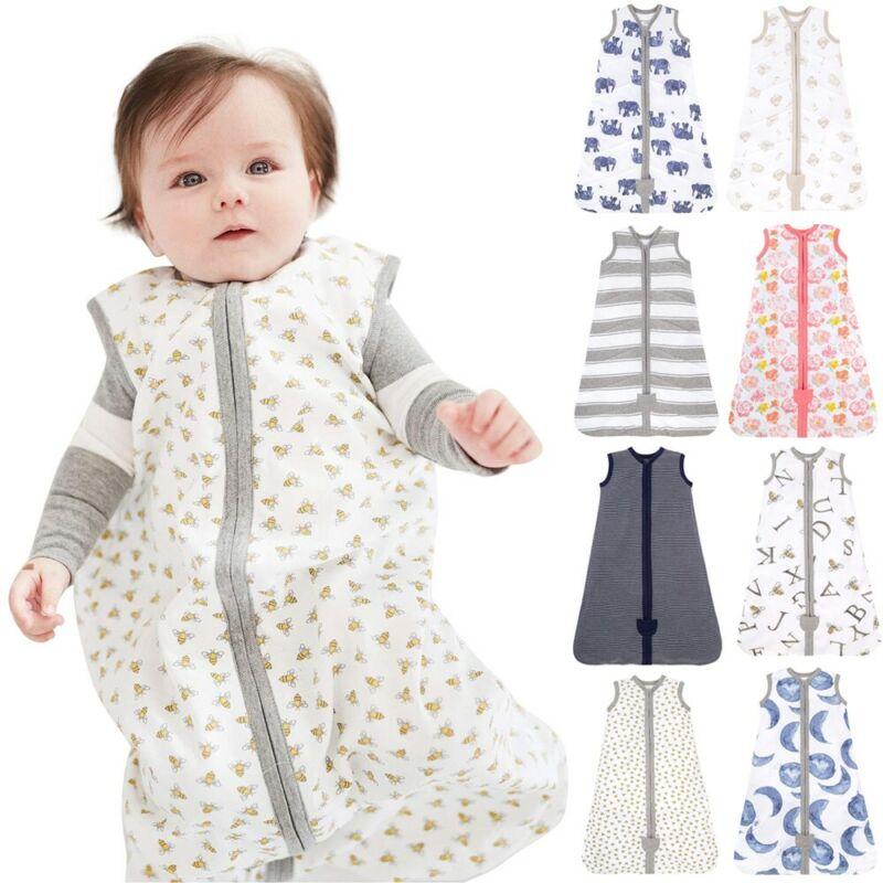 Newborn Baby 0-6M Cotton Zipper Swaddle Blanket Wrap Sleepin