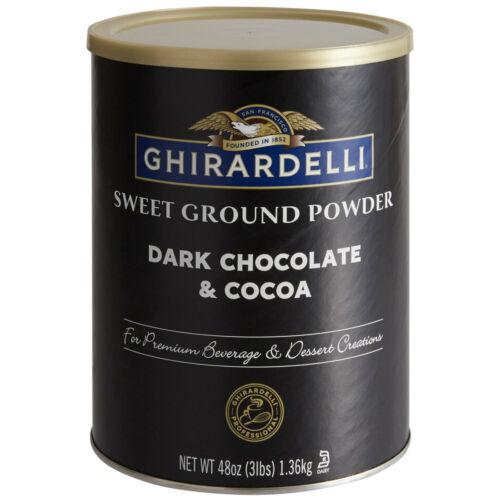 Ghirardelli 3 lb. Sweet Ground Dark Chocolate & Cocoa Powder (select quantity)