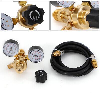 Argon Co2 Mig Tig Flow Meter Regulator Welding Gas Welder Gauge Cga 580 Inlet