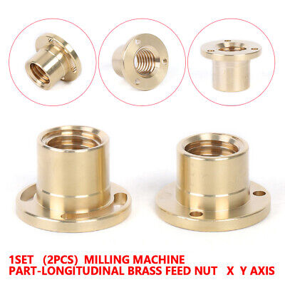 Milling Machine Tools X Axis Longitudinal Brass Feed Nut Set High Quality Copper