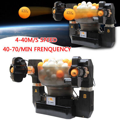 Automatic Table Tennis Ball Machine Dual Head Ping Pong Robot best for