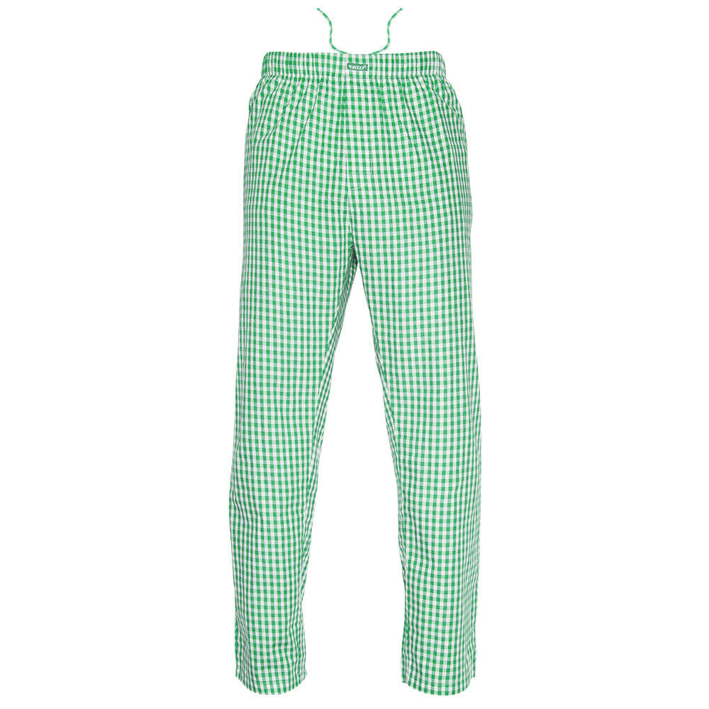 Ritzy Kids/Boys/Men Pajama Pants 100% Cotton Plaid Woven – RD, BL & WH Checks Boys